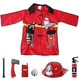 Feuerwehr Einsatzjacke Ausrüstung 8-teilig Kleinkind Kostüm Fasching Accessories