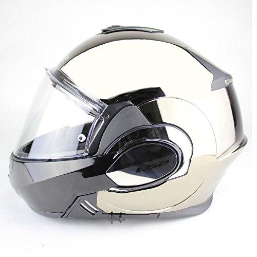 Preisvergleich Produktbild Klapphelm LS2 FF399 Valiant Glossy Chrome schwarz / silber / chrom / glänzend,  XXL