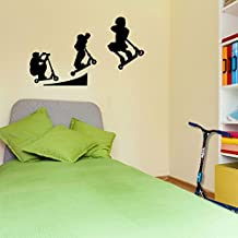 Stunt Scooters Sports Evolution Scotter Style 5 Wall Decorations Window Stickers Wall Decor Wall Stickers Wall Art Wall Decals Stickers Wall Decal Decals Mural Décor Diy Deco Removable Wall Decals Colorful Stickers