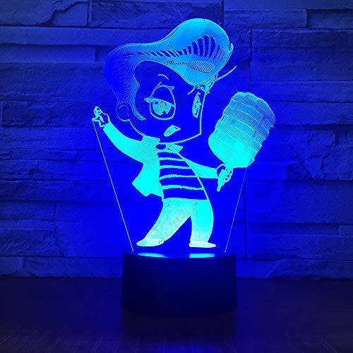 WangZJ 3d optische Täuschung Tischlampe/bunte Note Nachtlicht/Schlafzimmer Dekoration/Kinder Lampe/Stimmung Lampe/Karaoke singen