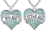 Best Glamour Girl Gifts Collection Friend Gifts Sets - Aqua Blue Crystal Heart Necklaces Set for Big Review