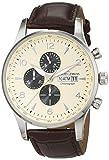Jacques Lemans Herren-Armbanduhr Classic London Chronograph Quarz Leder 1-1844C