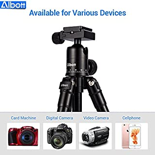 Albott 24-64CM 25 Zoll Mini stative Flexibel Kamera Reisen Alu kamerastativ Dreibeinstativ für SLR Kamera nikon Canon smartphone Schwarz