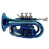 Dimavery 059424 TP-300 Bb Trompette de poche Bleu