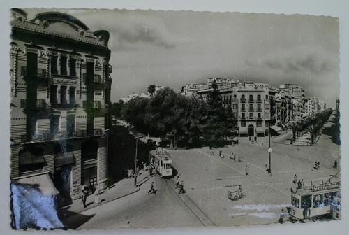 Antigua postal fotográfica. Old photo post card. Nº 147 - VALENCIA - Gran Vía Marqués del Turia