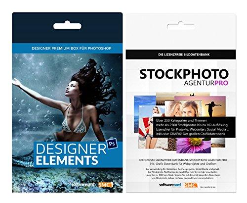 Das große Photoshop Vorlagen Paket: Tausende Vorlagen, über 200 exklusive Mockups für Design-Kreationen und Stockphoto Agentur PRO. Top Bundle. 2017 Edition. 4. Auflage