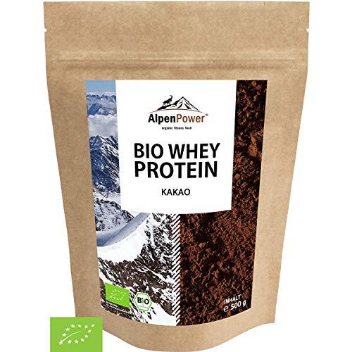 ALPENPOWER | BIO WHEY Protein Kakao | Ohne Zusatzstoffe | 100{fd424c0a83fcba4ae890315b45d408da6f8ea2cebf29598111e78e8dbd119635} natürliche Zutaten | 7 Sorten | Bio-Milch aus Bayern und Österreich | Superfood Kakao | Hochwertiges Eiweiß | Low Carb | 500 g