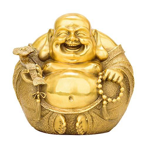 (DECORATION Reine Kupferstatue, Maitreya Auto Ornamente, Glückliche Dekorationen, Buddhistische Tempel Ornamente, Studie Desktop Collection, Home Skulptur (11 X 11 X 12,5 cm))