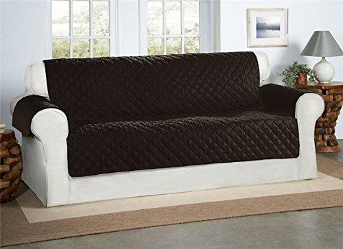 Safari homeware copridivano color nero 3 posti - sofa salotto protettore imbottito mobili copertura divano