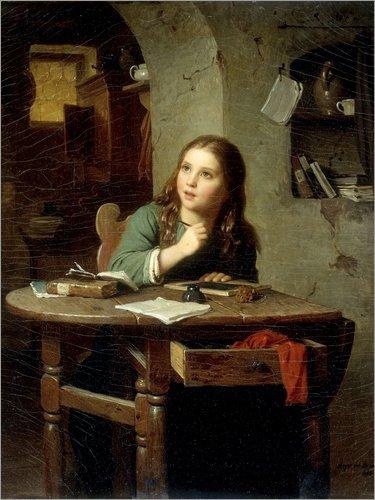 Posterlounge Forex-Platte 60 x 80 cm: Die Junge Schülerin von Bridgeman Images