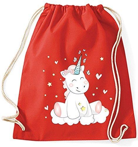 Mein Grau Zwergenland Jutebeutel Cutie Rot Einhorn L 12 BqBrFO1w