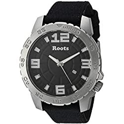 Roots Men's 'Core' Quartz Stainless Steel and Canvas Casual Watch, Color:Black (Model: 1R-LF600BA6B)