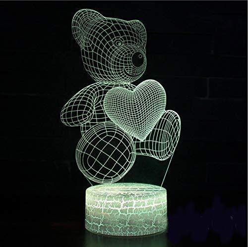 3D Visuelle 7 Farben Lebensechte Adler Moulding Schreibtischlampe LED Gradienten Atmosphäre Nachtlicht Hause Lampara Decor Kinder Geschenk lava Lampe