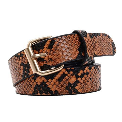 KUSUOU CinturóN De Leopardo Para Mujer (Marrón)