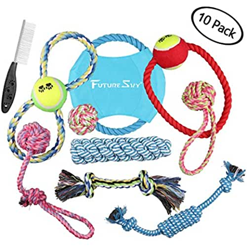 regalos tus mascotas mas kawaii futuresky Pubby perro juguetes 10unidades Set de regalo bola cuerda y masticar juguetes variedad mascotas cachorros juego de juguetes para pequeñas y medianas Doggie