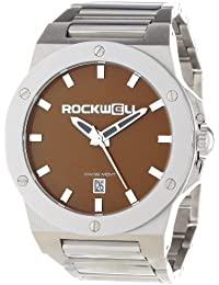 Rockwell Time Unisex CM115 Commander Stainless Steel Band Brown Dial Reloj