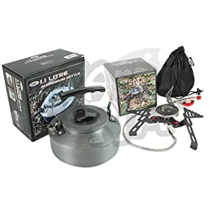 51UO32cPPJL. SS300  - NGT Camping And Sea Carp Fishing Portable Stove Gas Stove 3000W & 1.1L Kettle