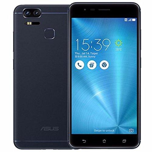 """ASUS ZenFone 3 Zoom ZE553KL Smartphone, AMOLED Screen, Doppia Fotocamera Posteriore con Zoom Ottico, Display 5.5"""" Full HD, RAM 4 GB, ROM 128 GB, Nero"""