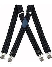 Decalen Hosenträger für Herren breit extra starken 4 cm mit 4er Clips X-Form lange für Männer und Damen Hose alle Farben