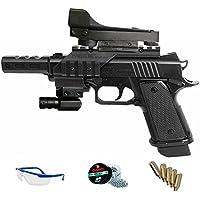 5170 TÁCTICAL KIT Daisy Pistola de aire comprimido (CO2) y balines de acero (perdigones BBS) calibre 4.5mm. Láser y visor holográfico incluido <3,5J