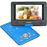 """ieGeek Tragbarer DVD-Player, 12.5"""" Körper, 9"""" Bildschirm, Drehbarem Display schwenkbarem, Unterstützt DVD,USB und SD Karte, Blau"""