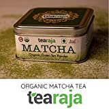 TeaRaja Organic Matcha Green Tea USDA Certified Stone Ground , Japanese Style, Instant