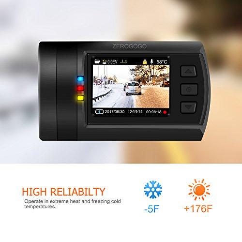 Zerogogo Dual Dash Cam 1080P FHD Mini 0906 Dashboard Camera Recorder with  GPS, Sony Super Night Vision IMX291 IMX323 Exmor Sensor, 7 Glasses Lens  Wide