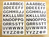 9.5mm Black Sticky Alphabet Letters A-Z , Cut to shape , Self Adhesive Sticky Vinyl Labels , Durable Plastic Stickers