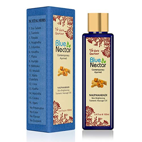 Blue Nectar Nalpamaradi Tailam For Skin Brightening Turmeric - 100 Ml