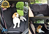 #3: Cpixen Pet Car Seat Cover Dog Safe Safety Travel Hammock Mat Blanket Black