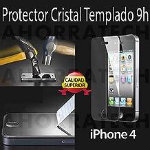 Protector pantalla Cristal Templado para IPHONE 4/ 4s. film templado, vidrio templado ULTRA RESISTENTE y GRAN CALIDAD de AHORRATECH®.