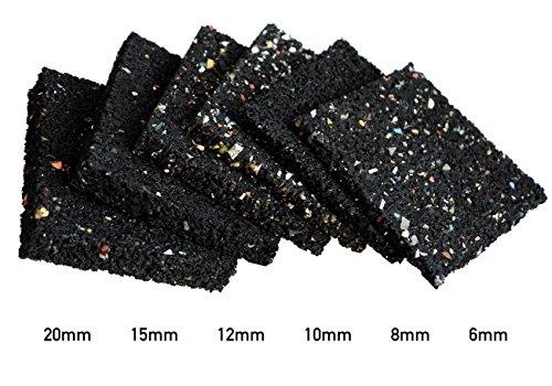 Terrassenpads 90 x 90 x 6mm 8mm 10mm 12mm 15mm 20mm, sowie 100 x 100 x 3mm! Stärke und Menge auswählbar. (90 x 90 x 6mm Menge: 25 Stück)