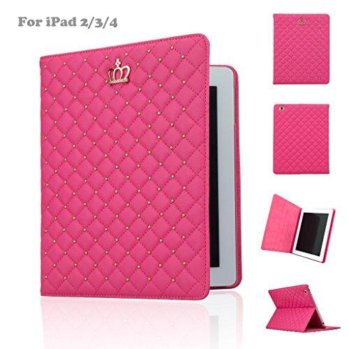 Ipad Wifi Generation 4. (iPad Hülle, iPad 2/3/4Schutzhülle, für Apple iPad 2, iPad 3, iPad 4Fashion PU Leder KRONE Design Bling Schutz Smart Ständer Schutzhülle mit Auto Wake/Sleep)