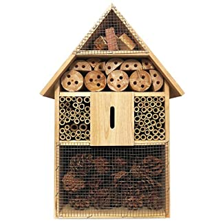 Deuba XXL Insect hotel 48cm Natural Wood Nest Box Nesting Habitat Bees Butterflies Ladybugs Deuba XXL Insect hotel 48cm Natural Wood Nest Box Nesting Habitat Bees Butterflies Ladybugs 51UO7B8plkL