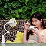Sansee Baby USB wiederaufladbare Mini Clip Fan, elektrische Kühlung Lüfter Arm Fan (3625, Gelb)