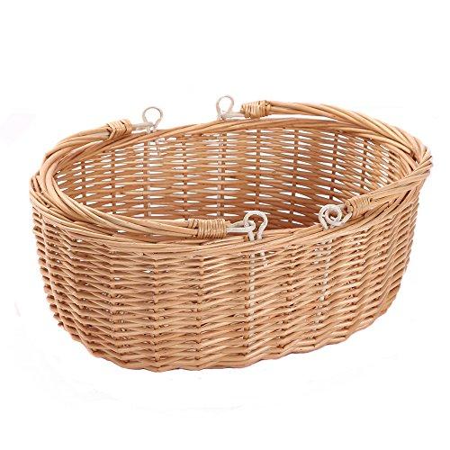 La cesta de picnic, diseño simple y uso de materiales ecológicos, mimbre, natural y segura y muy durable. Se aplican al almacenamiento de frutas y verduras, cualquier cosa que quieras poner algo, puede ser colocado en la cocina, para comprar alimento...