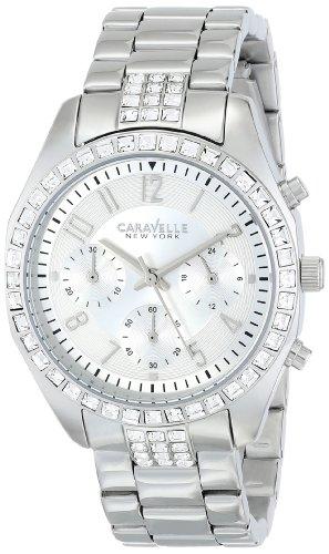 Damen-Armbanduhr Steel Bracelet & Case silberfarbenes Zifferblatt Chronograph Quarz 43l171 ()