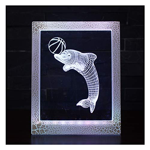 Magic Photo Frame Light, Stimmungslicht, kleine Tischlampe - 7 Farben Magic Light/Dolphin/Youth Nachttischlampe (Photo Frame Magic)