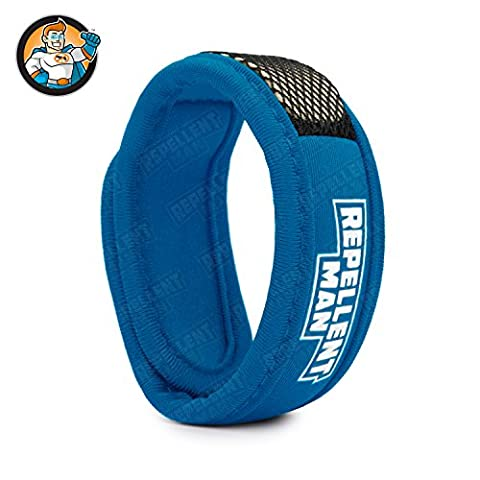 REPELLENT MAN - Mosquito Repellent Bracelet Band - Reuseable - Enchanced with Nano Release Technology - NO DEET - Premium Quality - (Sports Edition) - Tael Colour - 100% Natural - Pellet Inserisci