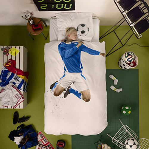 Snurk Bed Linen 135X 200Cm Soccer | Blue
