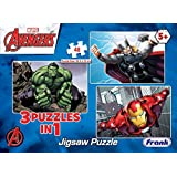 Frank Marvel Avengers 3 Puzzles in 1 - A Set of 3 48 Pc Jigsaw Puzzles for 5 Year Old Kids and Above