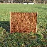 Weidenzaun / Flechtzaun Dansk als Sichtschutz und Windschutz - Sichtschutzwand 1 Stück, 150 x 180 cm