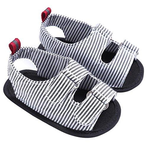 Scarpe per bambini Koly_i ragazzi della neonata morbida suola della greppia del bambino appena nato Sandali Scarpe Black
