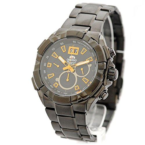 Orient Herren-Armbanduhr Chronograph Quarz Edelstahl FTV00006B0