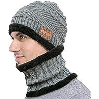 Unisex Sombrero Bluetooth para Mujer Y Hombre, Lavable Caliente Mantener Caliente Gorra con Auriculares con Auriculares Altavoz Micrófono