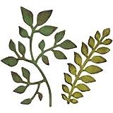 Sizzix Bigz Fustella Giardini Verdi, Bianco, Acciaio Inossidabile, 1.9 x 14 x 17.39 cm