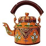 Modern Designed Tea Kettle Figurine Aluminium DECORATIVE TEA KETTLE From IHandikart Handicrafts , HAND PAINTED TEA KETTLE, MEENAKARI, JAIPURI, ARTICIAN, MODERN KETALI, INTERIOR UNIQUE PRODUCT, Painting Made By Hand, Ketali, Home Decor, Decor Items, Items
