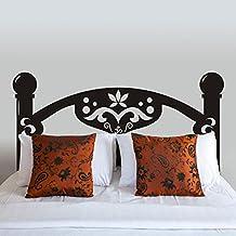 """mairgwall dormitorio pegatina de Master habitación vinilo adhesivo de diseño cama cabecero de cama Arte Mural, vinilo, Custom, 34""""h x76""""w"""