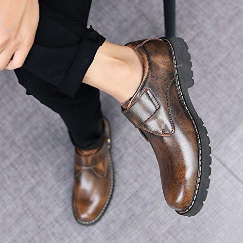 Miyoopark , Chaussures de ville à lacets pour homme Café