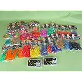 48 Packungen Loom Bänder bunt gemischt über 14000 Gummiringe ***Super-Set*** Preis gilt für das Gesamte Paket (48 Packungen)